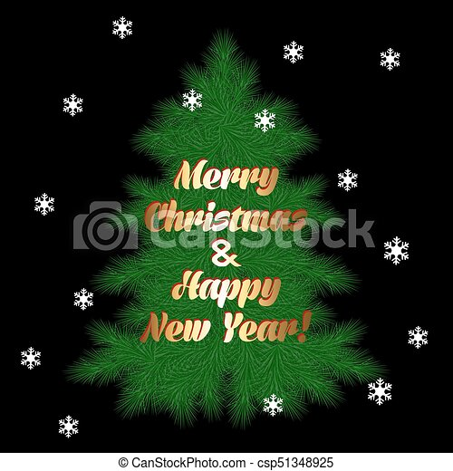 card with Christmas tree - csp51348925