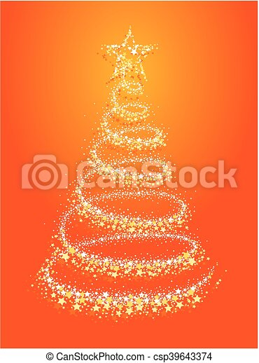 Card with Christmas tree. - csp39643374