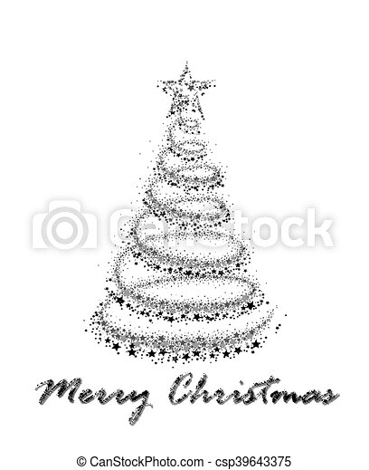 Card with Christmas tree. - csp39643375
