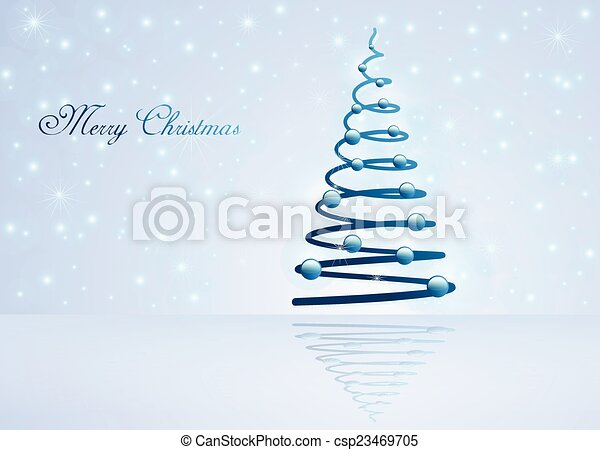 Card with Christmas tree - csp23469705