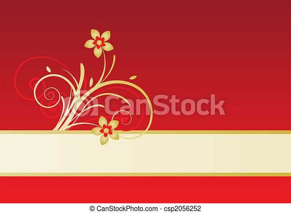 card with floral design - csp2056252