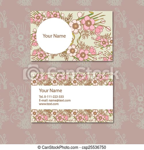 card with floral pattern - csp25536750