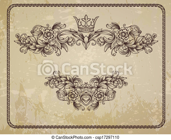 card with floral pattern  - csp17297110