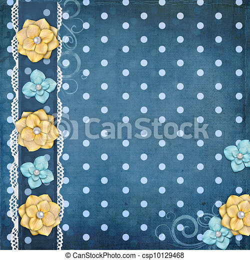 card with flowers  for congratulation to holiday  - csp10129468