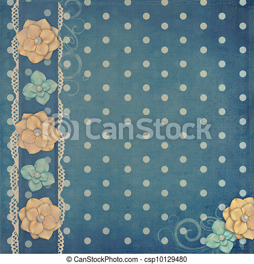 card with flowers  for congratulation to holiday  - csp10129480