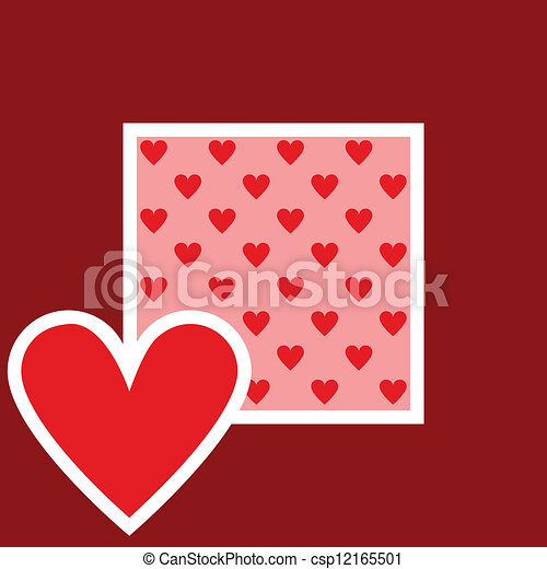 card with heart pattern - csp12165501