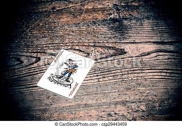 card with joker - csp29443459