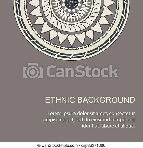 card with mandala in boho style - csp36271806