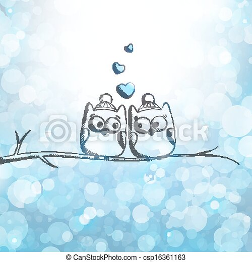 card with owls - csp16361163