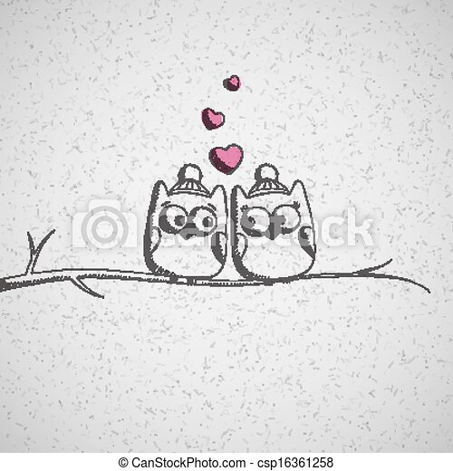 card with owls - csp16361258