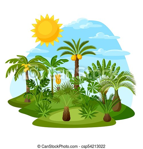 Tropical Palm Trees Clipart