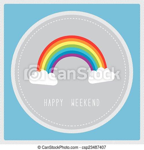Tarjeta de fin de semana - csp23487407