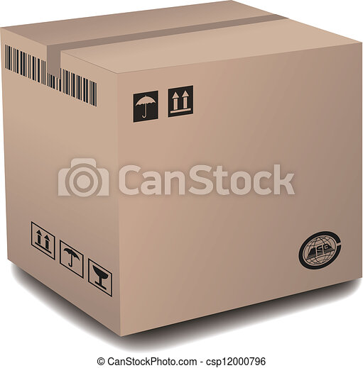 Cardboard Box - csp12000796