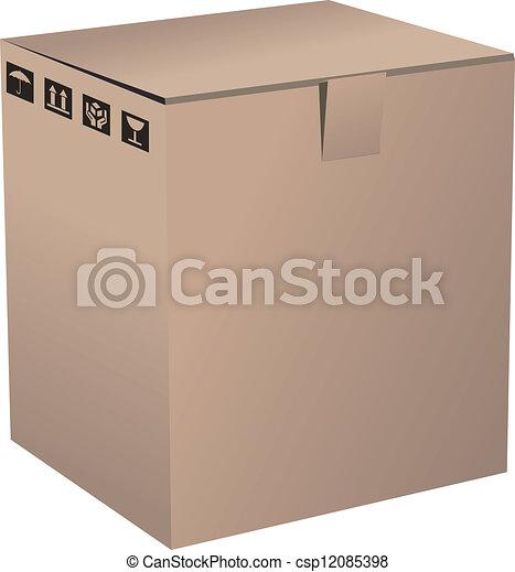 Cardboard Box - csp12085398