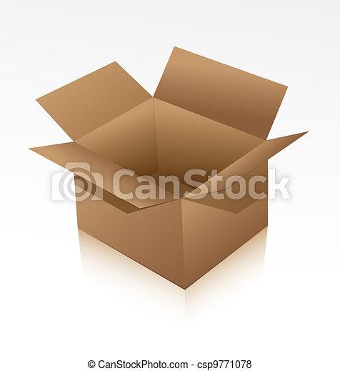 Cardboard box - csp9771078