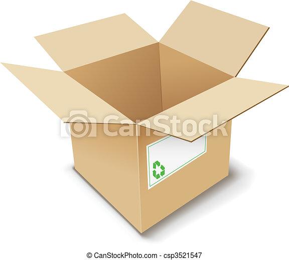 Cardboard Box. - csp3521547
