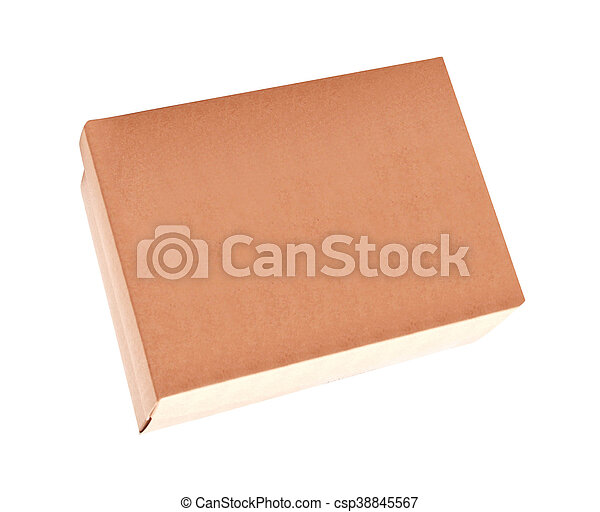 Cardboard Box isolated on a White background - csp38845567