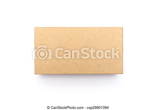 Cardboard Box isolated on a white background - csp29901094
