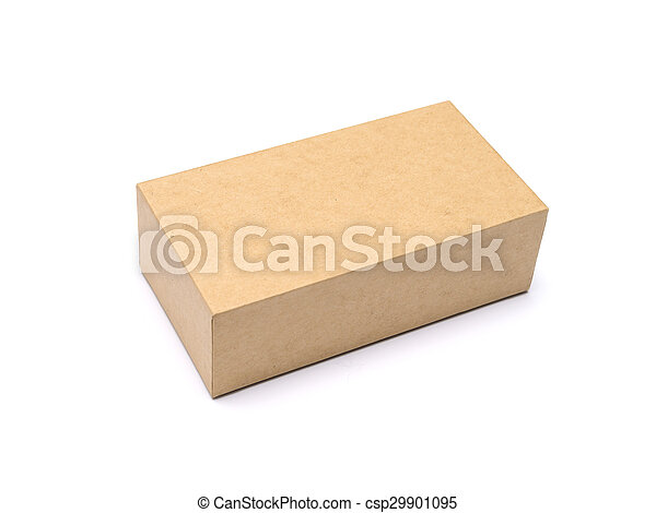 Cardboard Box isolated on a white background - csp29901095