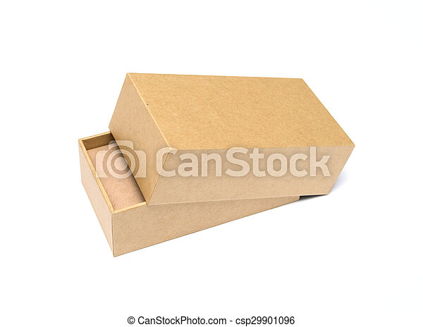 Cardboard Box isolated on a white background - csp29901096