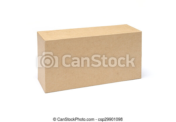 Cardboard Box isolated on a white background - csp29901098