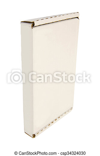 Cardboard Box isolated on a White background - csp34324030