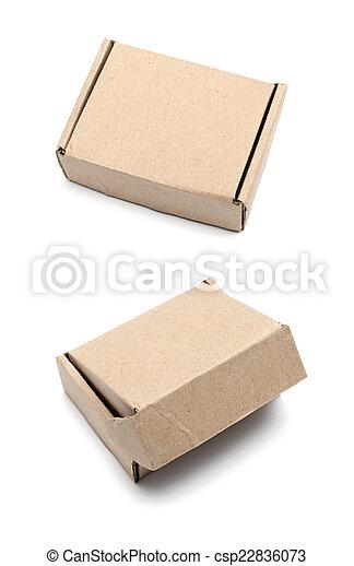 Cardboard box isolated on white background - csp22836073