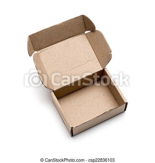 Cardboard box isolated on white background - csp22836103