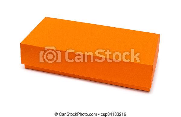 cardboard box on a white background - csp34183216