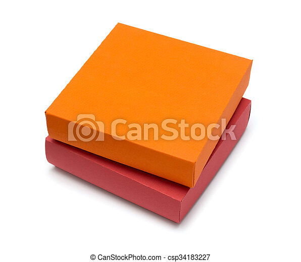cardboard box on a white background - csp34183227