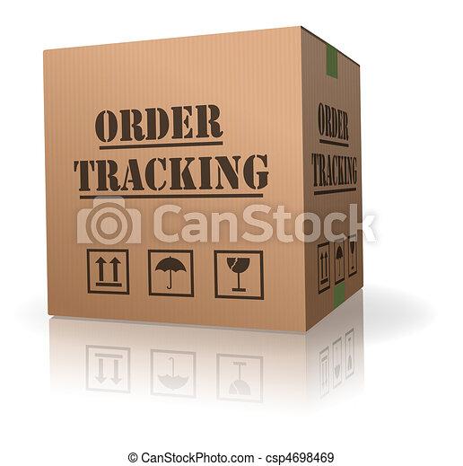 cardboard box order tracking - csp4698469
