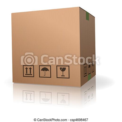 cardboard box - csp4698467