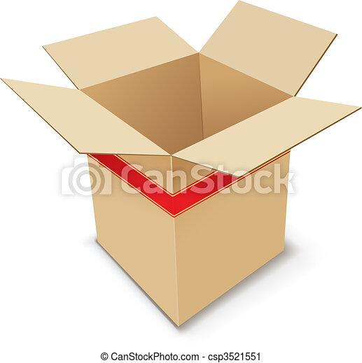 Cardboard Box. - csp3521551