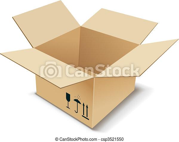 Cardboard Box. - csp3521550