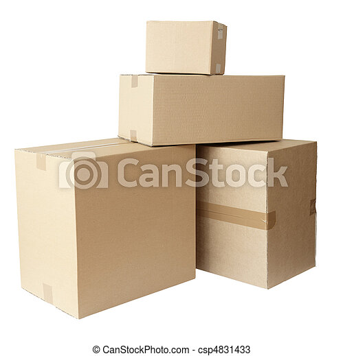 cardboard boxes stack package - csp4831433