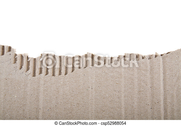 cardboard isolated on white background - csp52988054
