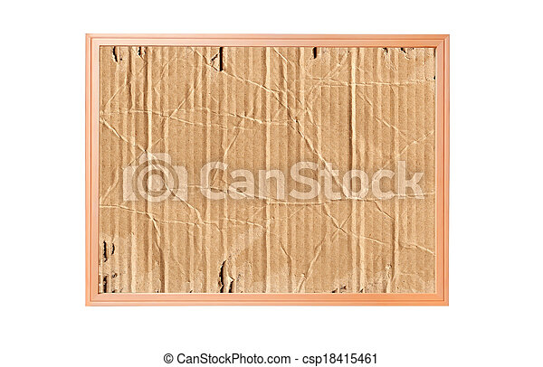 cardboard isolated on white - csp18415461