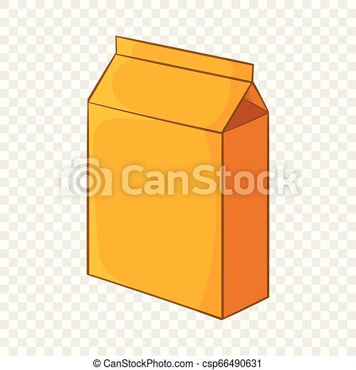 Cardboard packaging icon, cartoon style - csp66490631