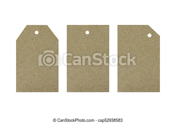 Cardboard tags for gifts. Holidays. Objects on white background - csp52938583