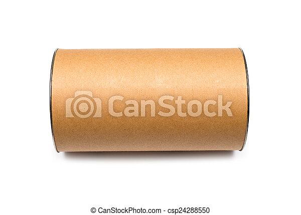 Cardboard tube isolated on white background - csp24288550