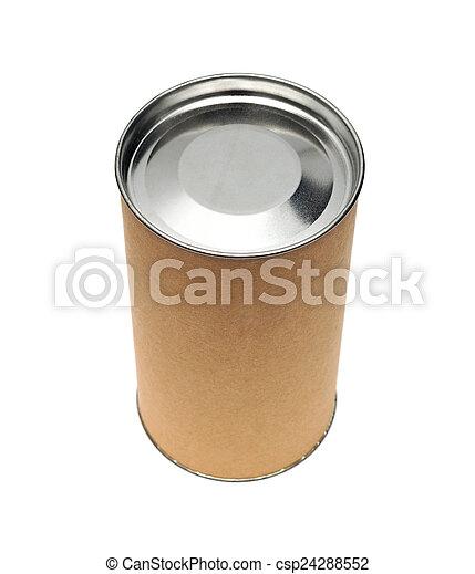 Cardboard tube isolated on white background - csp24288552