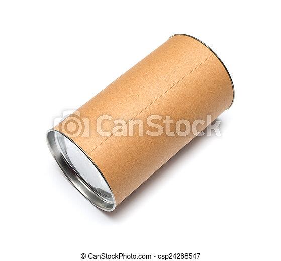 Cardboard tube isolated on white background - csp24288547