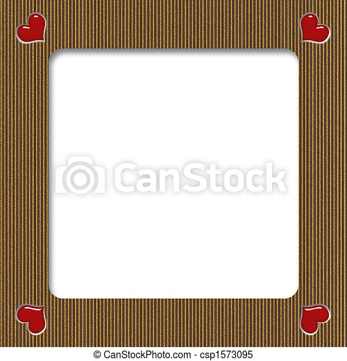 Cardboard Valentine Frame Carboard Valentine Frame With Hearts On