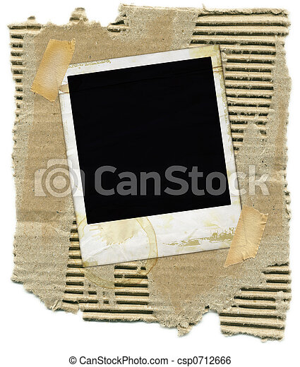 Cardboard with Polaroid - csp0712666