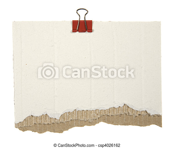 Cardboard With Red Clip - csp4026162