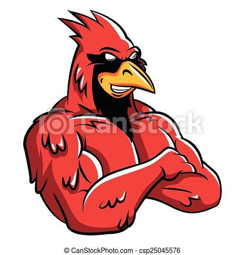 Cardinal Bird Mascot - csp25045576