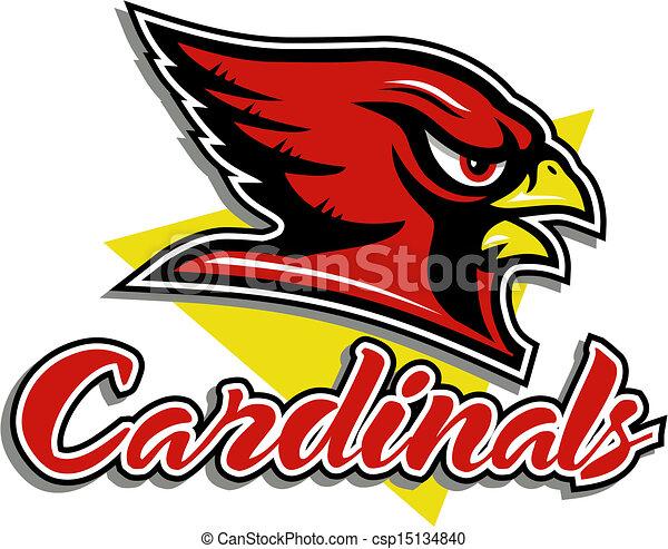 cardinal head mascot - csp15134840