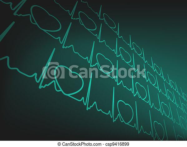 Cardiogram EKG. EPS 8 - csp9416899