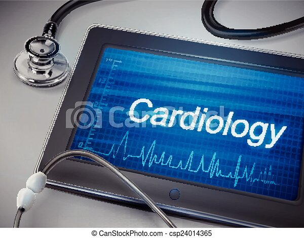 cardioilogy word display on tablet - csp24014365