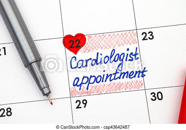 Calendrier Rendez Vous.Cardiologue Stylo Rendez Vous Rappel Calendrier